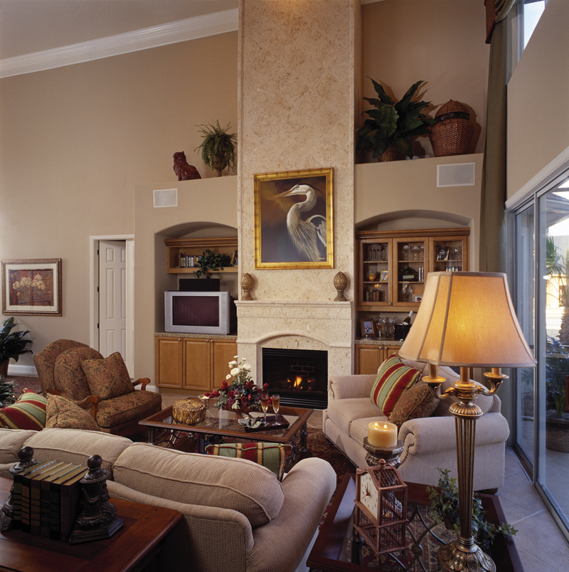 Sunbelt Home Plan Great Room Photo 01 - Lakeport Luxury Home 047D-0211 | House Plans and More