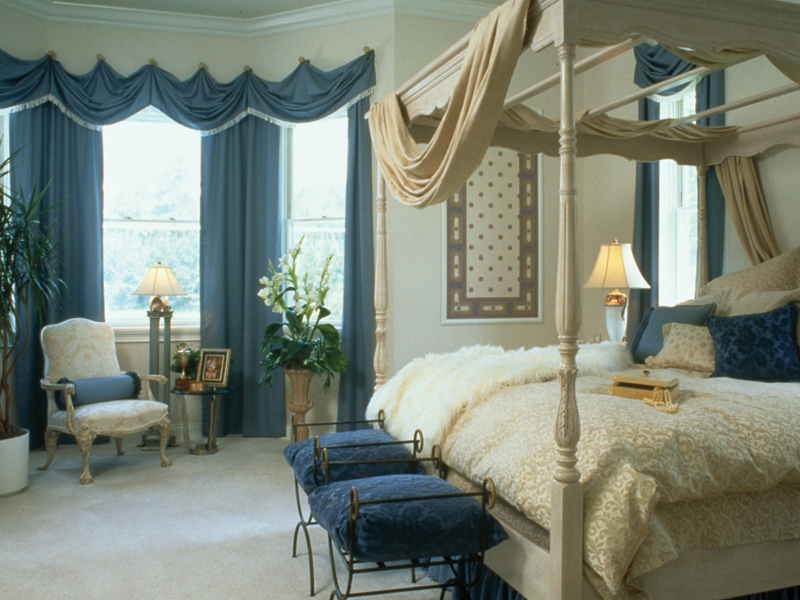 Traditional House Plan Master Bedroom Photo 01 - Charlotte Hollow Luxury Home 047D-0214 | House Plans and More
