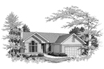 Traditional House Plan Front of Home -  051D-0005 | House Plans and More