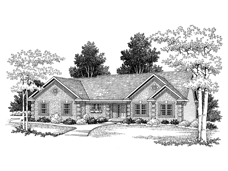 Robbinsdale Brick Ranch Home Plan 051D-0054 | House Plans ... on kame house sketch, victorian house sketch, split level house sketch, colonial house sketch, cottage house sketch, bungalow house sketch, contemporary house sketch, cape cod house sketch, pool house sketch, tudor house sketch,