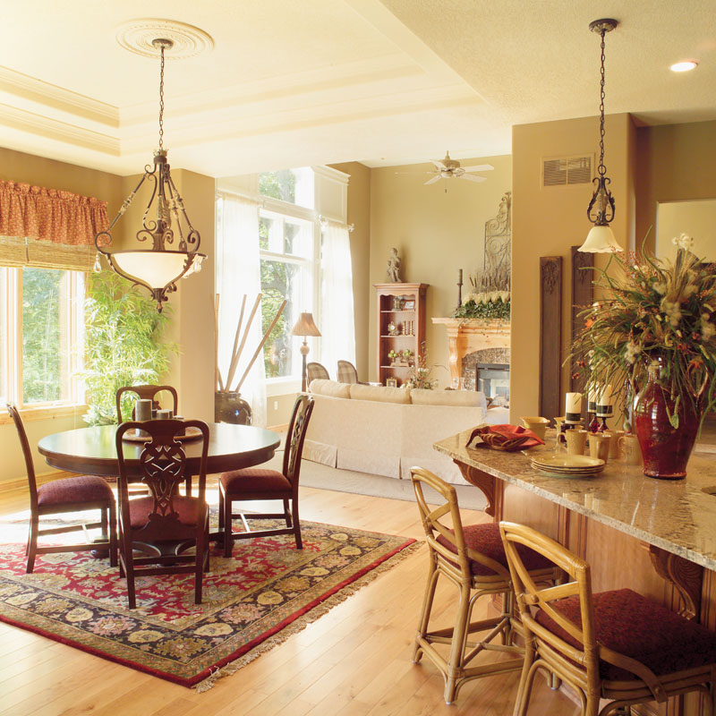 Traditional House Plan Dining Room Photo 03 - Parkridge European Home 051D-0188 | House Plans and More