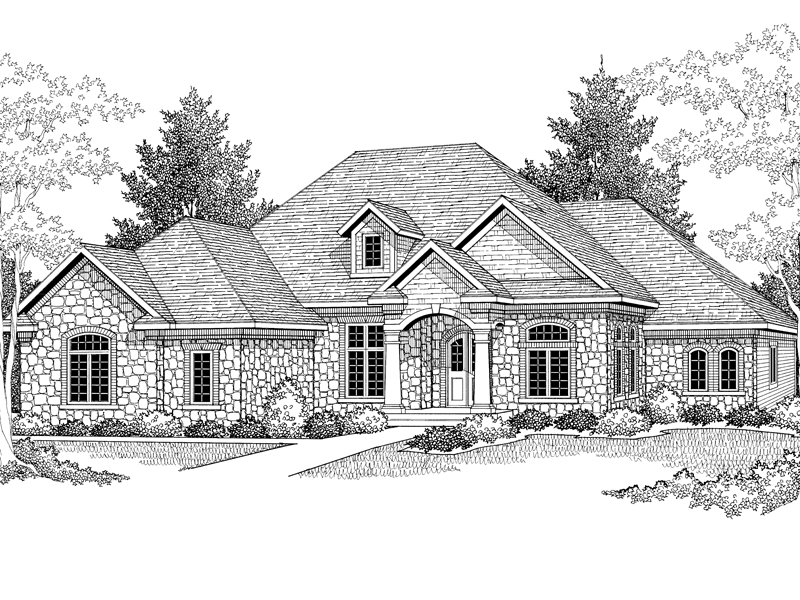 Modern House Plan Front Image of House - Mihalis Ranch Home 051D-0298   House Plans and More