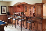 Sunbelt Home Plan Bar Photo - Hamburg Hill Luxury Home 051D-0544 | House Plans and More