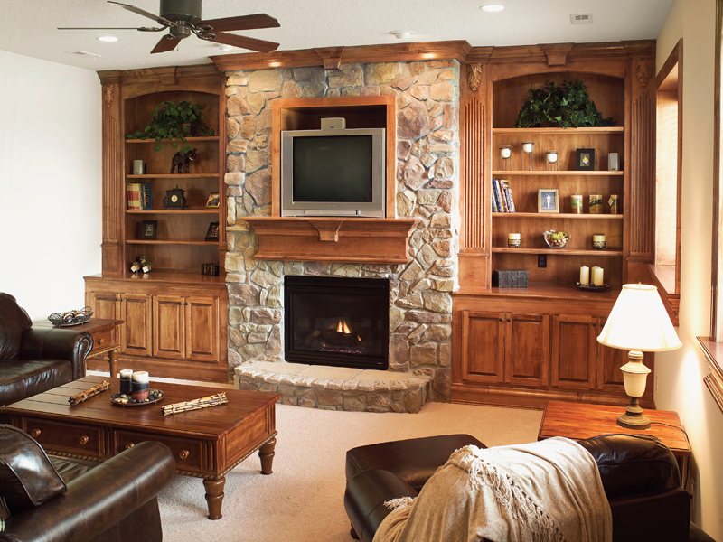 Sunbelt Home Plan Fireplace Photo 03 - Hamburg Hill Luxury Home 051D-0544 | House Plans and More