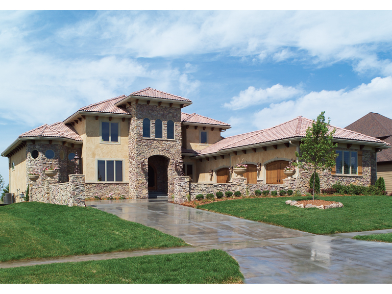 Sunbelt Home Plan Front of Home - Hamburg Hill Luxury Home 051D-0544 | House Plans and More