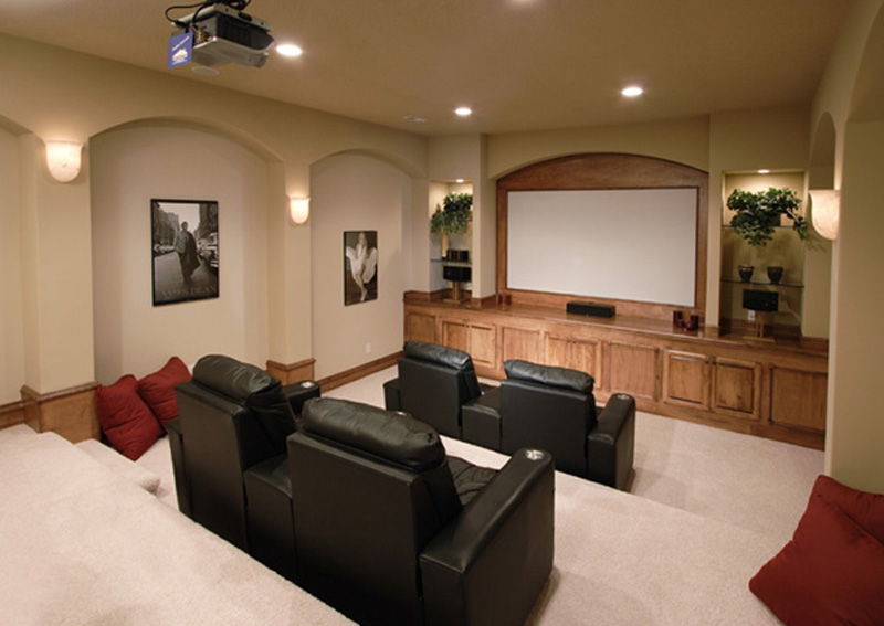 Traditional House Plan Theater Room Photo 01 - Hamburg Hill Luxury Home 051D-0544 | House Plans and More