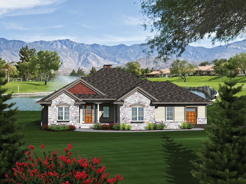 Cambria Cove Ranch Home Plan 051D-0681 | House Plans and More on l-shaped range home plans, l shaped garage plans, indoor range plans, steel frame homes floor plans,