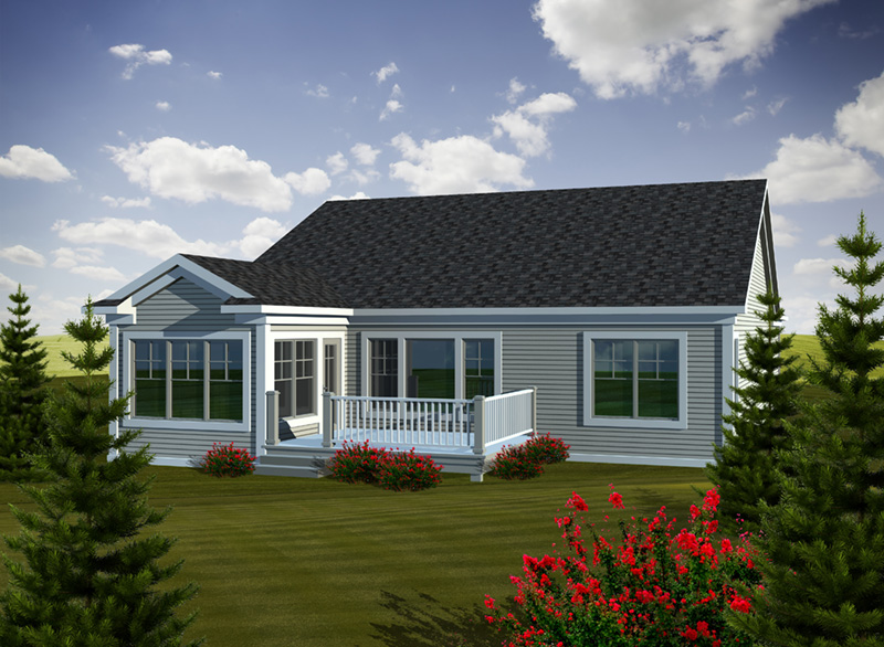 Ranch House Plan Rear Photo 01 - Wilson Farm Craftsman Home 051D-0736   House Plans and More