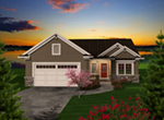 Ranch House Plan Front of Home - Alaine Craftsman Home 051D-0737 | House Plans and More
