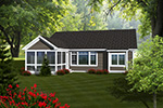 Ranch House Plan Rear Photo 01 - Alaine Craftsman Home 051D-0737 | House Plans and More