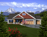 Arts & Crafts House Plan Front of Home - Watford Hill Rustic Home 051D-0738 | House Plans and More