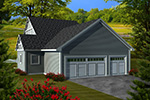 Tudor House Plan Rear Photo 01 - Mill Place Tudor Home 051D-0739 | House Plans and More