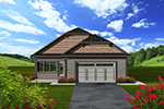 Shingle House Plan Rear Photo 01 - Eileen Hill Craftsman Home 051D-0740 | House Plans and More