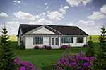 Sunbelt Home Plan Rear Photo 01 - Colton Ridge Ranch Home 051D-0741 | House Plans and More