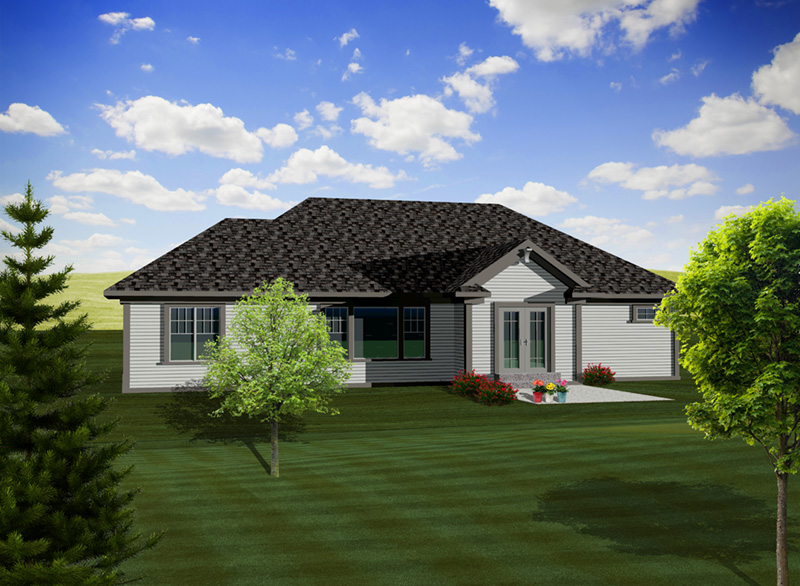 Country House Plan Rear Photo 01 - Stettin Rustic Ranch Home 051D-0742 | House Plans and More