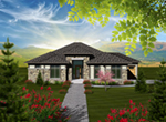 Rustic Home Plan Front of Home - Santa Paula Ranch Home 051D-0743 | House Plans and More