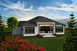 Rustic Home Plan Rear Photo 01 - Santa Paula Ranch Home 051D-0743 | House Plans and More