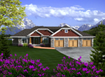 Country House Plan Front of Home - Haymarket Country Ranch Home 051D-0744 | House Plans and More