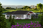 Country House Plan Rear Photo 01 - Haymarket Country Ranch Home 051D-0744 | House Plans and More