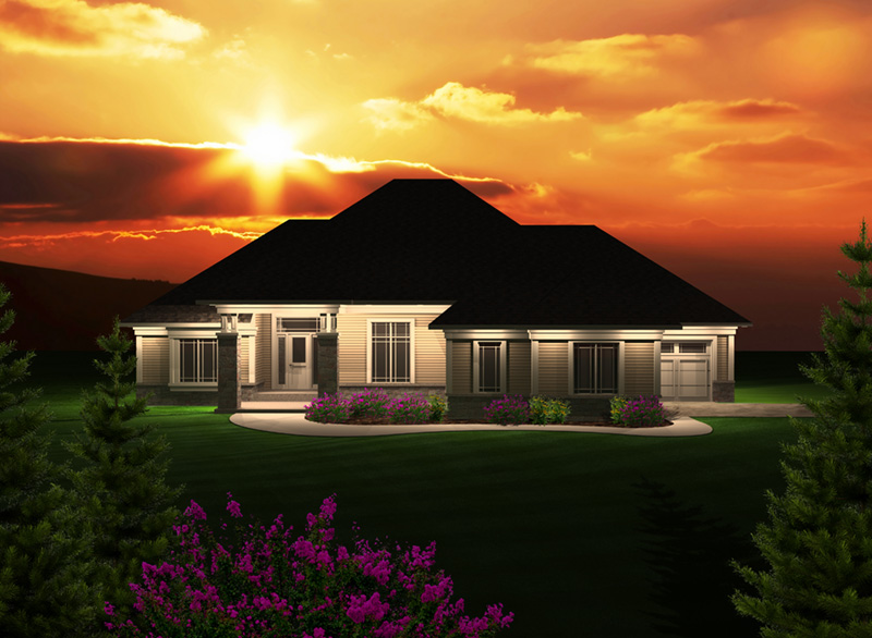 Traditional House Plan Front of Home - Marina Hill Ranch Home 051D-0748 | House Plans and More