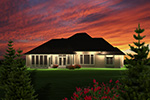 Traditional House Plan Rear Photo 01 - Marina Hill Ranch Home 051D-0748 | House Plans and More
