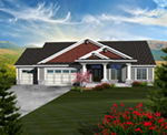 Luxury House Plan Front of Home - Cainelle Craftsman Ranch Home 051D-0750 | House Plans and More