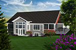 Luxury House Plan Rear Photo 01 - Cainelle Craftsman Ranch Home 051D-0750 | House Plans and More