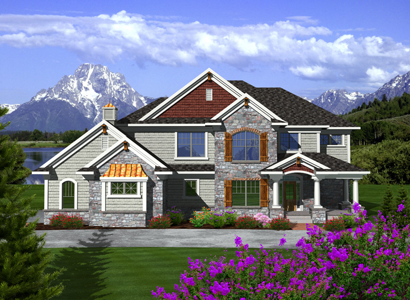 Luxury House Plan Front of Home - Fredo European Home 051D-0751 | House Plans and More