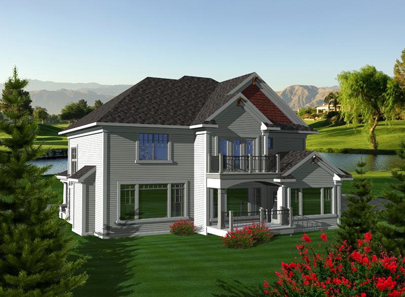 Luxury House Plan Rear Photo 01 - Fredo European Home 051D-0751 | House Plans and More