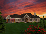 European House Plan Front of Home - Emma Hill European Home 051D-0752 | House Plans and More