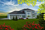 Traditional House Plan Rear Photo 01 - Pimlico Cove Prairie Home 051D-0753   House Plans and More