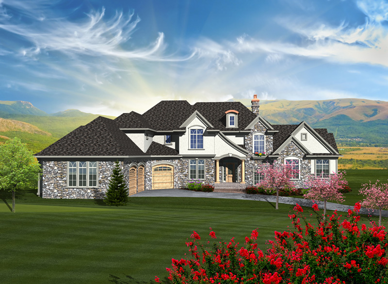Luxury House Plan Front of Home - Lorianne European Luxury Home 051D-0755 | House Plans and More