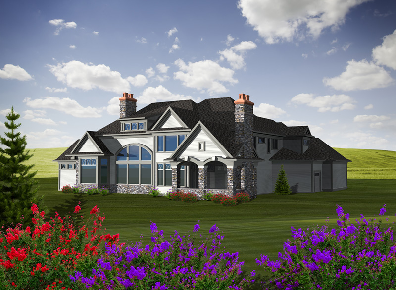Luxury House Plan Rear Photo 01 - Lorianne European Luxury Home 051D-0755 | House Plans and More