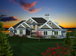 Neoclassical Home Plan Front of Home - Milo Park Craftsman Home 051D-0756 | House Plans and More
