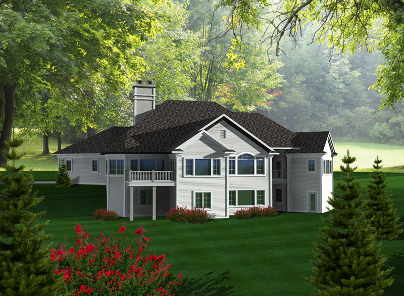 Neoclassical Home Plan Rear Photo 01 - Milo Park Craftsman Home 051D-0756 | House Plans and More