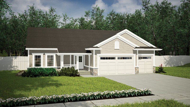 Arts & Crafts House Plan Front of Home - Torrell Craftsman Home 051D-0757 | House Plans and More