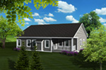 Arts & Crafts House Plan Rear Photo 01 - Torrell Craftsman Home 051D-0757 | House Plans and More