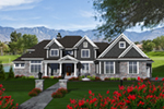 Shingle House Plan Front of Home - Keagan Luxury Shingle Home 051D-0773 | House Plans and More