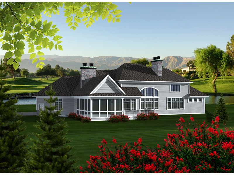 Luxury House Plan Rear Photo 01 - Keagan Luxury Shingle Home 051D-0773 | House Plans and More