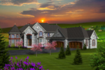 Traditional House Plan Front of Home - Jourdain Luxury European Home 051D-0776 | House Plans and More