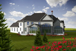 Traditional House Plan Rear Photo 01 - Jourdain Luxury European Home 051D-0776 | House Plans and More
