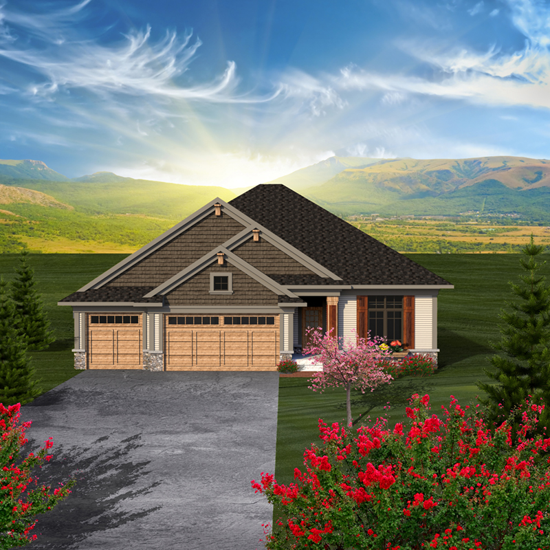 Traditional House Plan Front of Home - Geovany Rustic Craftsman Home 051D-0780 | House Plans and More