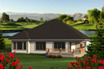 Traditional House Plan Rear Photo 01 - Geovany Rustic Craftsman Home 051D-0780 | House Plans and More