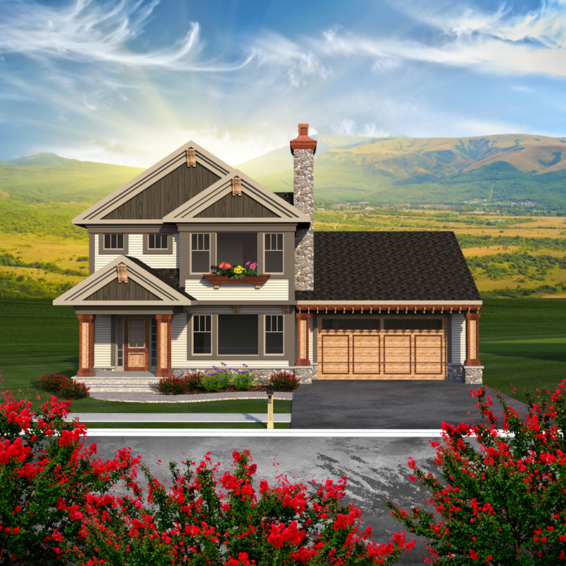 Farmhouse Plan Front of Home - Dixie Valley Country Home 051D-0786 | House Plans and More