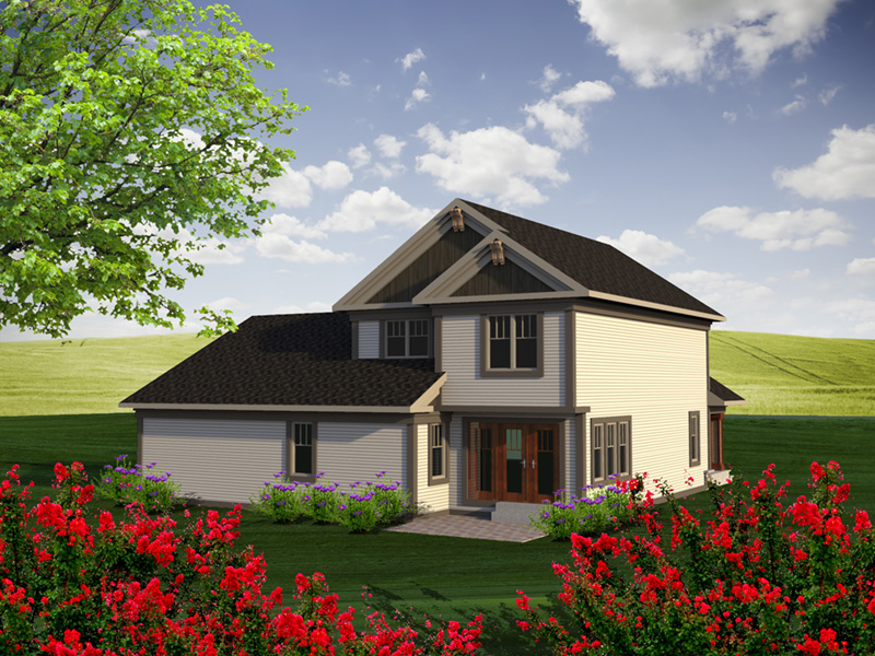 Farmhouse Plan Rear Photo 01 - Dixie Valley Country Home 051D-0786 | House Plans and More