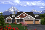 Country French House Plan Front of Home - Winsted European Home 051D-0790 | House Plans and More