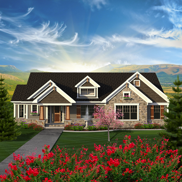 Evans Rustic Craftsman Home Plan 051D-0794 | House Plans and ... on