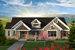 Arts & Crafts House Plan Front of Home - Evans Rustic Craftsman Home 051D-0794 | House Plans and More