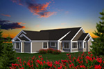 Arts & Crafts House Plan Rear Photo 01 - Evans Rustic Craftsman Home 051D-0794 | House Plans and More