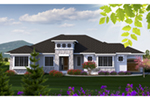 Contemporary House Plan Front of Home - Alamo Heights Prairie Home 051D-0814 | House Plans and More